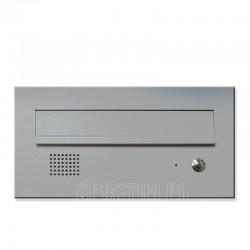 Niska skrzynka na listy z domofonem srebrna 9007 RAL 9006 RAL