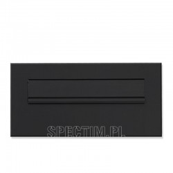 Przelotowa skrzynka na listy czarna 9005 RAL