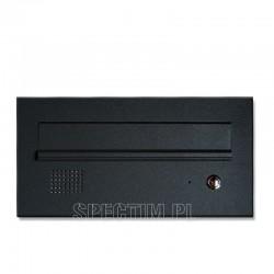 Niska skrzynka na listy z domofonem czarna 9005 RAL