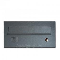 Niska skrzynka na listy z domofonem antracytowa 7016RAL