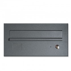 Niska skrzynka na listy z domofonem grafitowa 7024 RAL