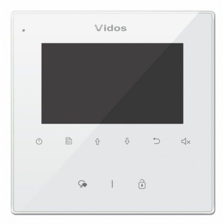 """M1022W Vidos monitor głośnomówiący 7"""" biały"""