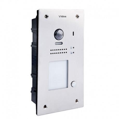 S1201A Vidos Stacja podtynkowa z kamerą  i czytnikiem RFID