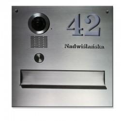 Stalowa skrzynka na listy z napisem do kamery S551 SK Vidos