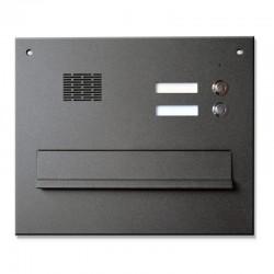 Skrzynka na listy z domofonem 2 przyciski lakierowana czarny/antracytowy/grafitowy