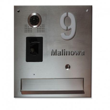 Skrzynka na listy z napisem do kamery S561Z z czytnikiem biometrycznym