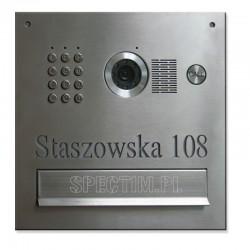 Skrzynka na listy szyfratorem z kamerą S551 z napisem