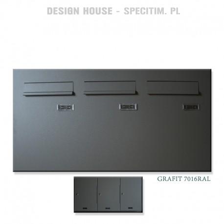 Skrzynki pocztowe pionowe do montaż w drzwi -produkcja