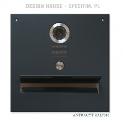 Antracytowa skrzynka na listy z  kamerą wideodomofonu S551