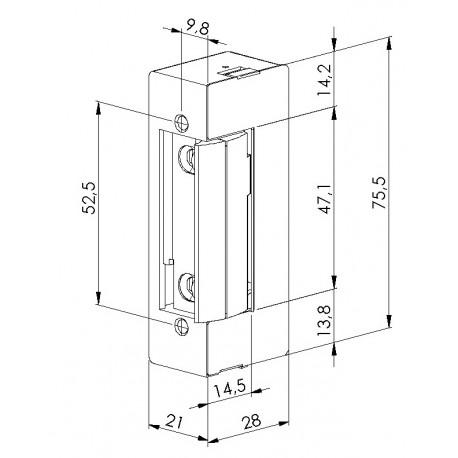 Elektrozaczep symetryczny  12 V AC