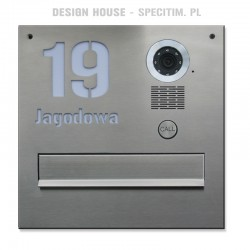 Stalowa skrzynka na listy z napisem z kamerą S551 SK Vidos
