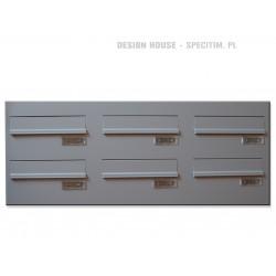 Skrzynki przelotowe 6 wrzutów do stolarki aluminiowej i PCV