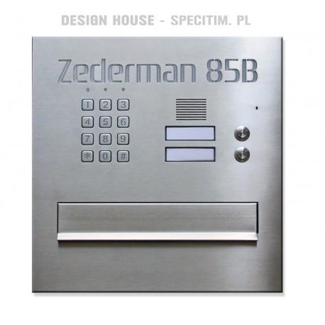 Skrzynka na listy z szyfratorem i domofonem 2 przyciski